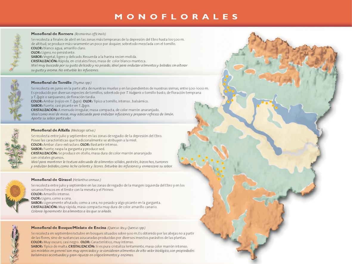 mapa miel monofloral